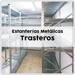Estanterías Metálicas Trasteros, en esquina para aprovechar cada hueco. Combine estantes, barras porta-percha, etc.